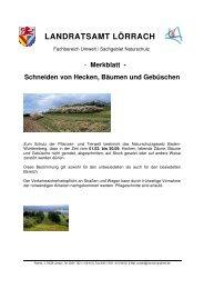 Merkblatt Schneiden von Hecken, Bäumen und ... - Landkreis Lörrach