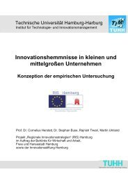 Innovationshemmnisse in kleinen und ... - Global Innovation