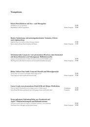 Vorspeisen - Restaurant Hess by braunerts