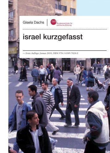 israel kurzgefasst - Bundeszentrale für politische Bildung