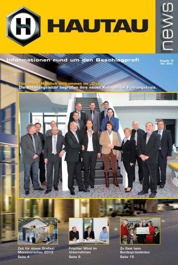HAUTAUnews – Ausgabe 12, Dez. 2012.