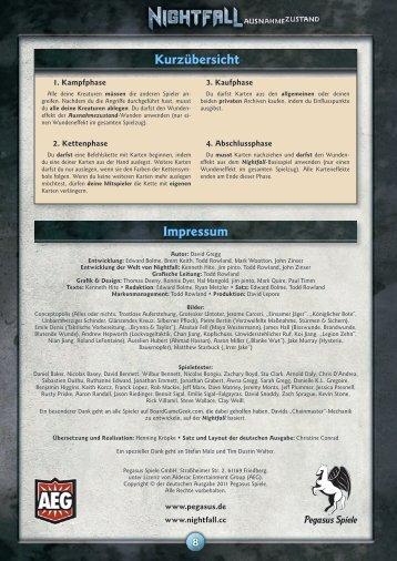 Nightfall Ausnahmezustand - Anleitung - Pegasus Spiele
