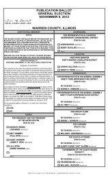 publication ballot general election november 6, 2012 warren county ...