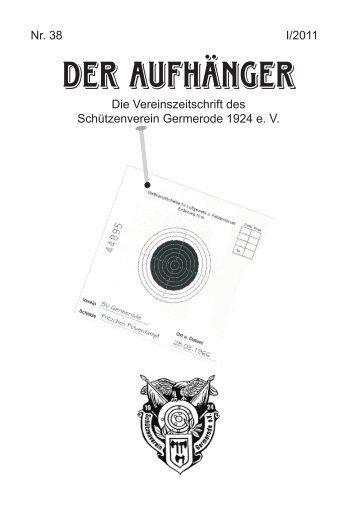 Der Aufhänger Nr. 38 - Schützenverein Germerode 1924 e. V.