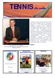 TENNIS live online - Tennisverband Schleswig-Holstein