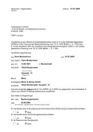 Muster für Verpflichtungsunterlagen zur ... - Landkreis Lörrach