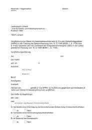 Verpflichtungsunterlagen zur Freistellung vom ... - Landkreis Lörrach