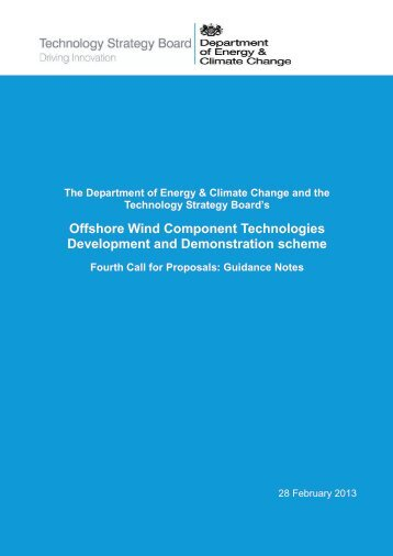 Offshore Wind Component Technologies Development and Demonstration scheme