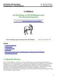 Leitlinie zur Beurteilung von Pferdehaltungen unter