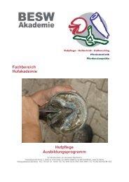 I Ziele der Hufpflege - BESW Hufakademie