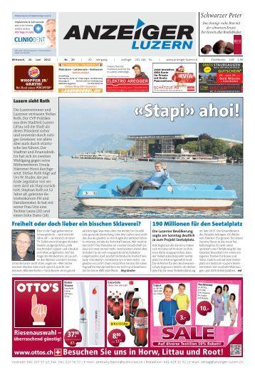 Anzeiger Luzern, Ausgabe 25, 20. Juni 2012