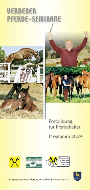 VERDENER PFERDE-SEMINARE - Hannoveraner Verband