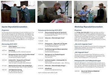 Equine Reproduktionsmedizin Workshop Reproduktionsmedizin