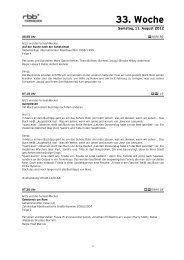 33. Woche - rbb Presseservice   Startseite