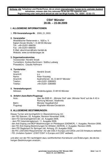 CSI4* Münster 20.08. – 23.08.2009 - Turnier der Sieger
