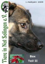 Unsere Broschüre 2009/1 - Tiere in Not Solingen eV