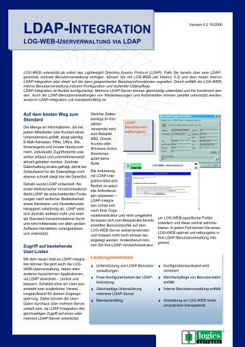 LDAP-INTEGRATION - Logics Software