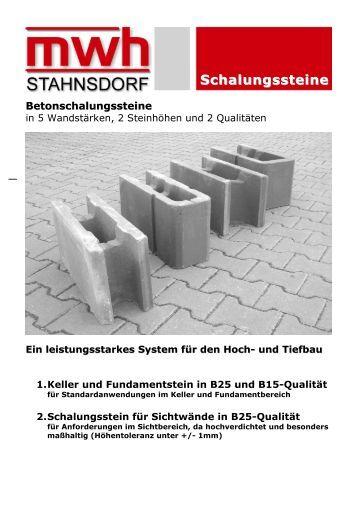 Schalungssteine magazine for Schalungssteine toom