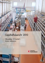 Geschäftsbericht 2010 - Kantonalbanken