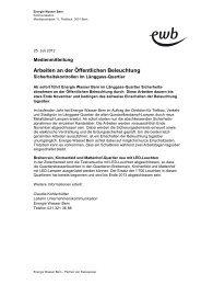 Arbeiten an der Öffentlichen Beleuchtung - Energie Wasser Bern