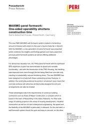 MAXIMO panel formwork: One-sided operability shortens ...