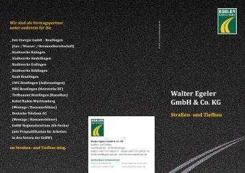 Unser Flyer als PDF herunterladen. - Walter Egeler GmbH & Co. KG