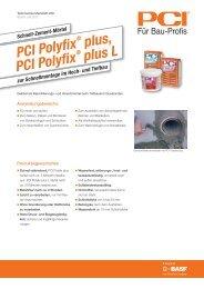 Schnell-Zement-Mörtel PCI Polyfix ® plus, PCI Polyfix ® plus L
