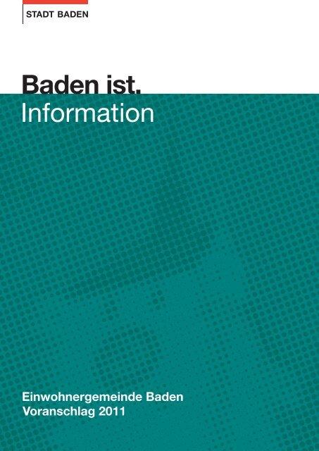 Voranschlag 2011 - Baden