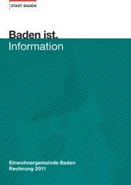 Rechnung 2011 - Baden