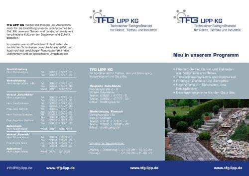 Neu in unserem Programm - tfg-gruppe.de