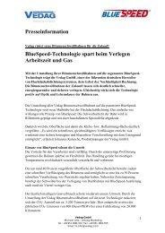 Presseinformation BlueSpeed-Technologie spart beim ... - Vedag