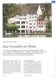 Eine Trouvaille am Rhein - Gasthof Hirschen Eglisau