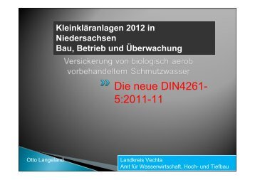 Die neue DIN 4261 Teil 5