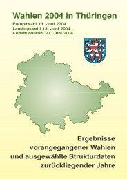 und Kommunalwahl 2004 in Thüringen - Ergebnisse - Wahlen in ...