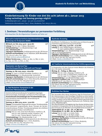 Hessisches Ärzteblatt Februar 2013 - Landesärztekammer Hessen