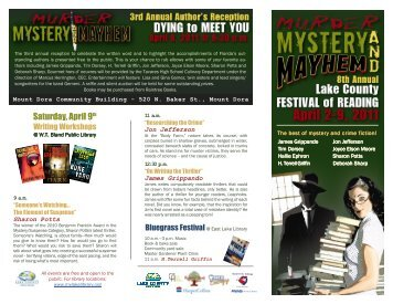 Events Schedule - Murder, Mystery and Mayhem - 2011 Festival of ...