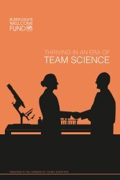 Thriving in an Era of Team Science - Burroughs Wellcome Fund