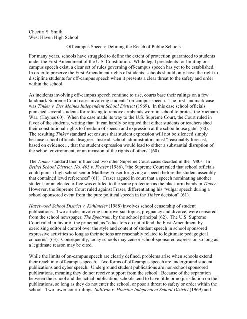 Read The Second Prize Essay  American Civil Liberties Union Of  Read The Second Prize Essay  American Civil Liberties Union Of  Science Fair Essay also Reflective Essay Thesis Statement Examples  Health Essay Writing