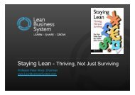 Staying Lean - Thriving, Not Just Surviving - Institute of Industrial ...