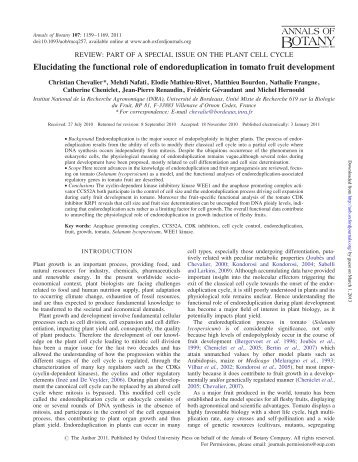 Elucidating the functional role of ... - Annals of Botany