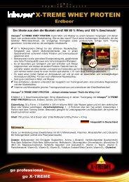 Produktinfo inkospor® X-TREME WHEY PROTEIN Erdbeer