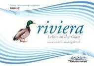 Leben an der Glatt www.riviera-niederglatt.ch