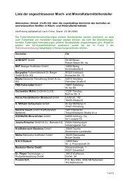 Liste der angeschlossenen Misch- und Mineralfuttermittelhersteller