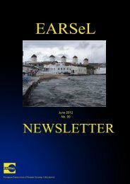 the newsletter in pdf format - EARSeL, European Association of ...