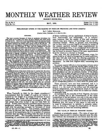 MONTHLY WEATHER REVIEW - Index of