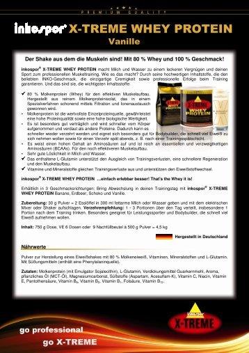 Produktinfos inkospor X-TREME WHEY PROTEIN Vanille 120521 ...