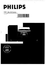 Page 1 PHILIPS FW33 Mini Hifi System Dn     IJDCIIJIJ 495 1 D 0 ...
