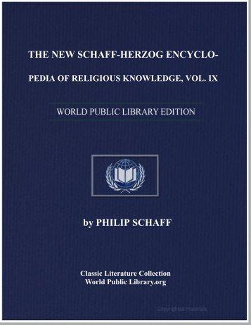 the new schaff-herzog encyclopedia of religious knowledge, vol. ix