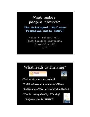 What makes people thrive? - Salutogenes