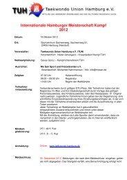 Internationale Hamburger Meisterschaft Kampf 2012 - THR eV